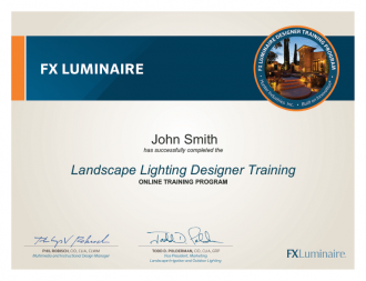 New Certificate Program Landscape Lighting Designer Fx