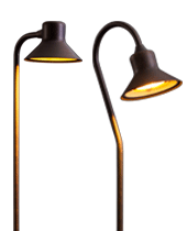 the td and fg offer the same simple symmetry and slender silhouettes as their with more energy efficient 1 3 6 or 9led lamp - Path Lights
