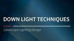 Down Light Techniques, Landscape Lighting Design
