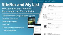 SiteRec and My List from Hunter and FX Luminaire