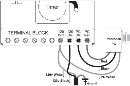 photocell wiring red black white photocell image px troubleshooting photocell fx luminaire on photocell wiring red black white